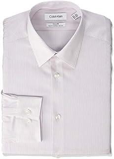 Calvin Klein Men's Dress Shirt Slim Fit Non Iron Stretch Solid