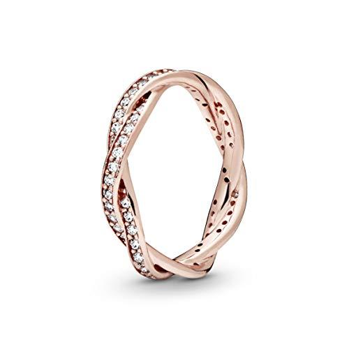Pandora Damen-Ringe zum Jahrestag Silber_vergoldet mit \'- Ringgröße 56 (17.8) 180892CZ-56