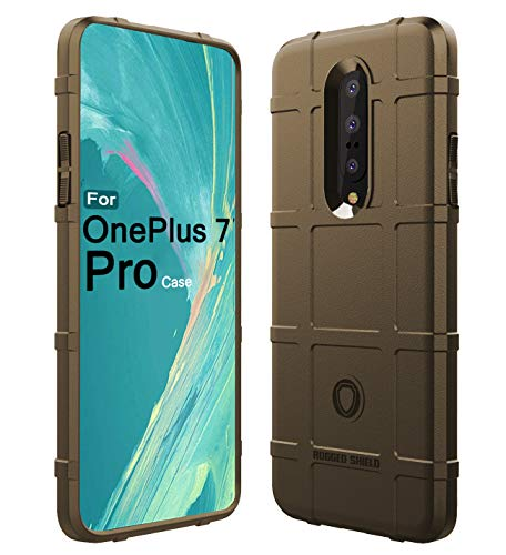 Sucnakp OnePlus 7 Pro Case,OnePlus 7 Pro 5G Case Heavy Duty Shock Absorption Phone Cases Impact Resistant Protective Cover for One Plus 7 Pro Case(New Brown)