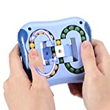 ODIKASO Rotating Magic Bean Toys Decompression Rotating Small Beads Fidget Spinner Magic Cube Toys for Unisex-Children Puzzle Educational Toys(Indigo)