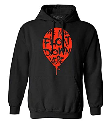 NuffSaid We All Float Down Here Balloon - Classic 80's Horror Sweatshirt - Graphic Pennywise Hoodie