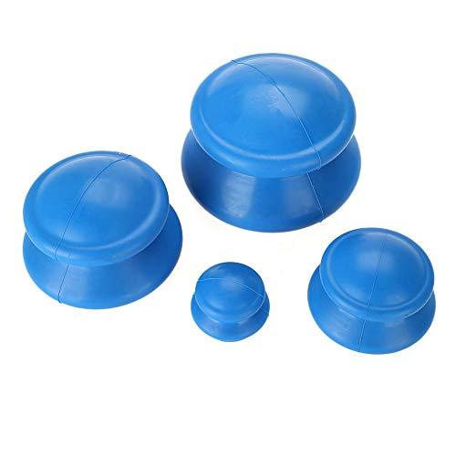 Silikonkoppningssats, 4st silikonvakuumkoppar Kinesisk medicinsk koppning hälsovårdsmassageprodukt