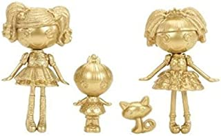 Lalaloopsy, Mini Lalaloopsy Exclusive Limited Gold Edition Set Spot Splatter Splash, Trinket, Sparkles, and Jewel Sparkles by MGA