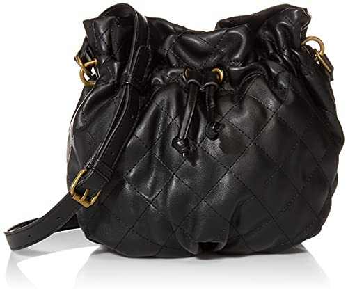 The Drop Women's Josie Drawstring Bucket Bag, Black, One Size