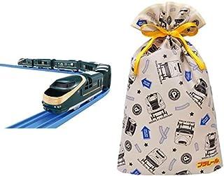 プラレール クルーズトレインDXシリーズ TWILIGHT EXPRESS 瑞風 + インディゴ タカラトミー プラレール ラッピング袋 ギフトバッグL ベージュ TA080