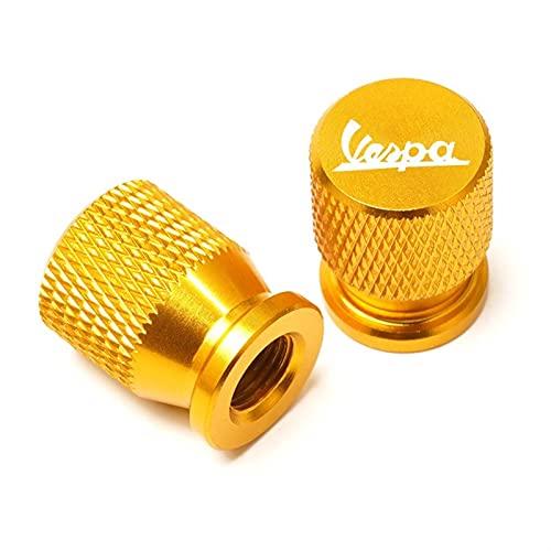 CNC para Vespa Piaggio Sprint Primavera LX 150 GTS 250 300 200 Accesorios motocicleta CNC Neumáticos de gas Tapa de la boquilla de la válvula de núcleo de la boca (Color: Dorado)