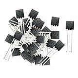 100 Pezzi Transistori Potenza Dispositivo Semiconduttore Chip Silicio Rame...