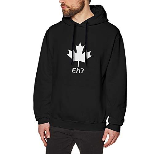 QsuNa Canada On The Eh Logo Sudadera con capucha para hombre