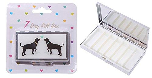 Melancholita Pillendose aus Metall 7 Day Pill Box Dogs