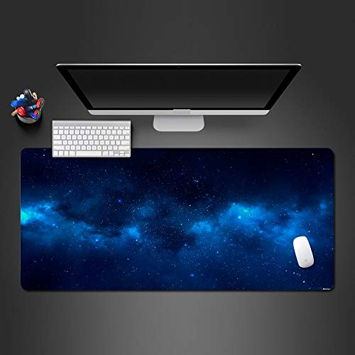 Extended Mouse Mat Blue Mouse Pad Notebook Pc Computer Game Mouse Lock Pads Grote Tapijt Muis Laptop Toetsenbord Muis Tafel Matten, 1000x500x3mm