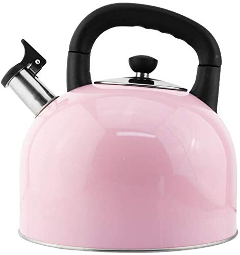 Bouilloire induction Kettle de sifflet automatique 304 acier inoxydable bouilloire à gaz à induction cuisinière universelle bouilloire grande capacité bouilloire rose WHLONG (Size : 4L)