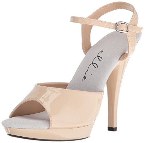 Ellie Shoes Women s 521-juliet-w Heeled Sandal  Nude  8 D US