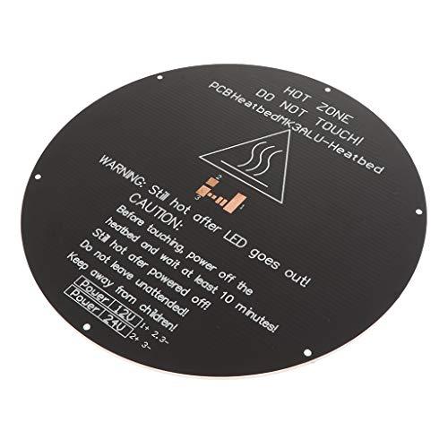 XBaofu 1pc 3mm Dicke, runde Aluminiumhitzebett 3D-Drucker Heatbed Hot Plate for Delta Rostock 3D-Drucker Aluminium Beheizte Bed Hot Bed