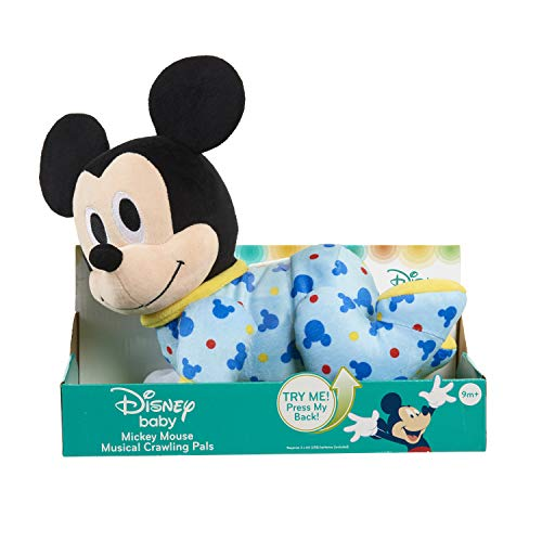 Mickey Mouse Disney Baby Musical Crawl Along Pals Plush- Mickey, Multicolor, Model: 12128