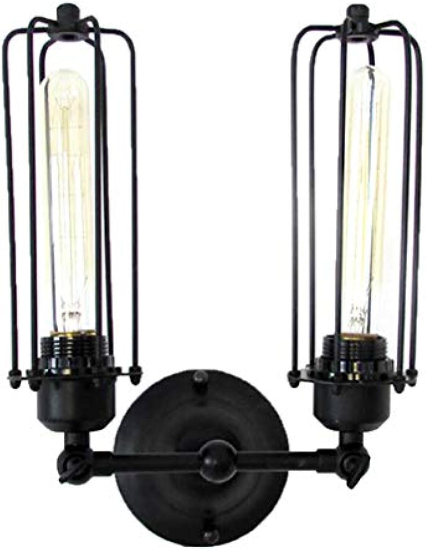 DECJ Vintage Wall Light Tube Glühbirnen Industrial Style Lighting Adjustable Socket Rustic Wire Metal Cage Sconces Wall Lamp Indoor Home Retro Lights Fixture (l Rubbed Bronze)