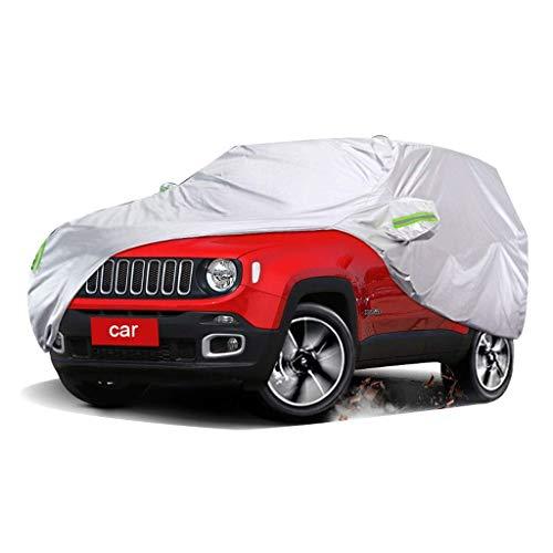 Fundas para coche Compatible Con JEEP Renegade Funda Protectora Exterior Para Cubierta Del Automóvil Protección UV A Prueba De Viento Transpirable Resistente Al Polvo Impermeable Todo Clima Cubierta P
