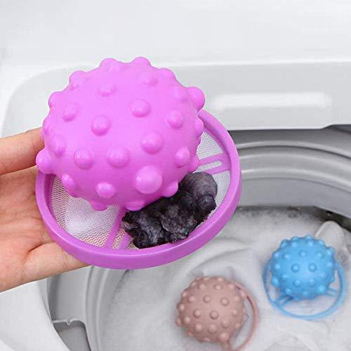 KZJIEZH Bola de lavandería, bolsa de red de filtro de pelo, bolsa de filtro de pelusa de lavado reutilizable, para atrapar peluche de peluche de algodón Filtro de filtro de filtro, removedor de succió