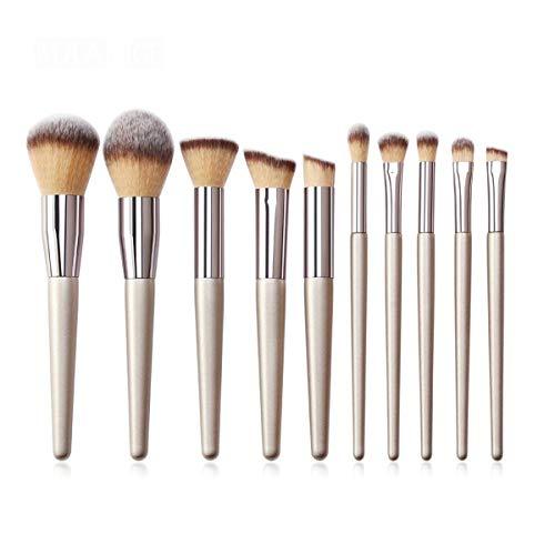 WEKDU Maquillage Pinceaux for cosmétiques de teint en poudre fard à joues fard à paupières Blending composent la brosse Beauté kits d'outils, 10/11 / 12Pcs / Set (Couleur : 10Pcs, Size : One Size)