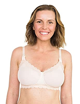 Simple Wishes Supermom Nursing and Hands Free Pumping Bra, USA Company, Comfortable, Multi-Function, All Day Wear, Blush, 38C by Simple Wishes