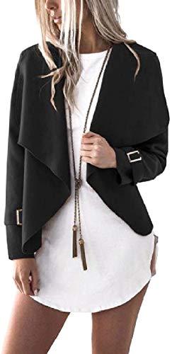 QDGERWGY Women Comfy Asymmetric Hem Mini Fall Cardigan Short Winter Worsted Coat