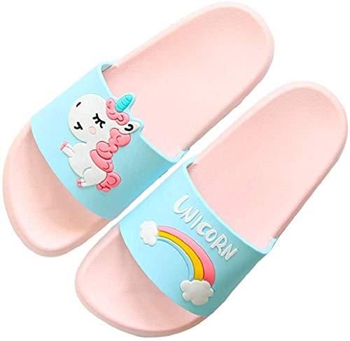 HommyFine Ciabatte da Doccia Scarpe da Spiaggia e Piscina Unicorno Bambini Pantofole da Bagno Ragazzi e Ragazze Pantofole da Interno E da Esterno Sandali Unicorno (Rosa, Numeric_32)