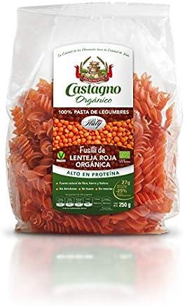 カスターニョ オーガニック 赤レンズ豆 フジッリ 250g