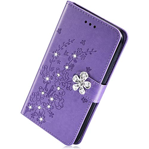 Buy Cheap Herbests Compatible with Samsung Galaxy M30 Wallet Case Glitter Diamond Bling Rhinestone L...