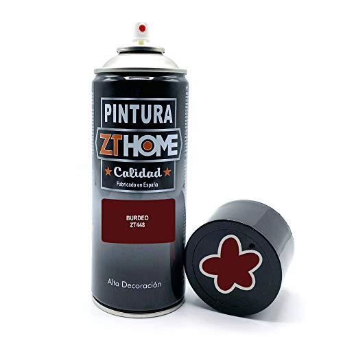 Pintura Spray Rojo Burdeos 400ml imprimacion para madera, metal, ceramica, plasticos / Pinta todo tipo de cosas y superficies Radiadores, bicicleta, coche, plasticos, microondas, graffiti