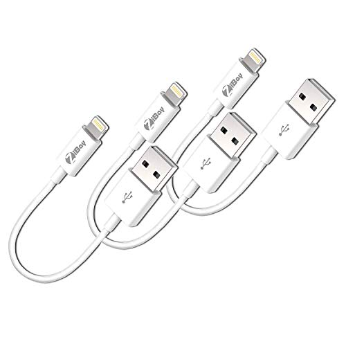 Short Lightning Cables, USB Charging Data Cord Compatible With iPhones, iPads, and iPods [3-Packs]