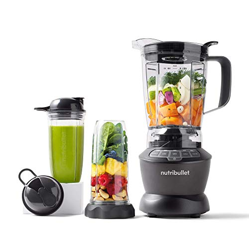 NutriBullet ZNBF30500Z Blender Combo 1200 Watt, 1200W, Dark Gray (Renewed)