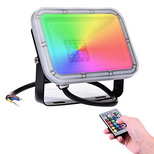 20W Foco LED RGB con Control Remoto 1600lm,16 Colores y 4 Modos,...