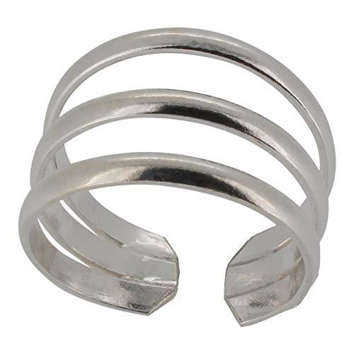 Touch Jewellery TJ1284 - Anello da piede a tre cerchi in argento puro