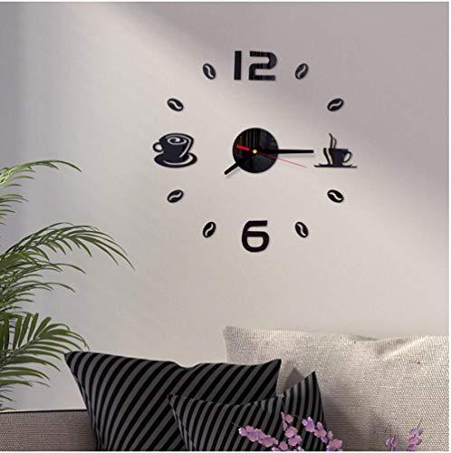 Wandklok Modern Design Quartz Wandklok Zelfklevend Modern Mute Acryl Analoge Kunst Keuken Koffiekopjes Decoratie