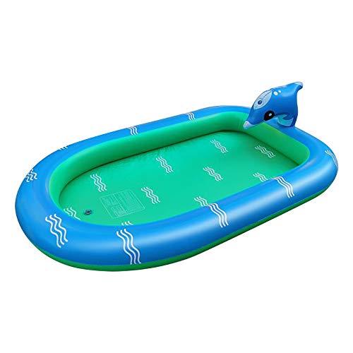 HSD Splash Pad - Alfombrilla para aspersores para jugar en el agua, juguete para el verano, para niños, bebés, mascotas, 170 x 115 cm/110 x 43 cm (110 x 70 cm)