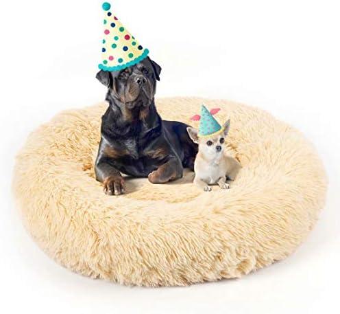 Donut Dog Bed Premium Quality Faur Fur Plush Pet Cat Bed Comfortable Cuddler Round Ultra Soft product image