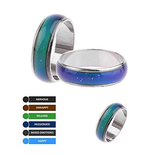 DDTing Magic Mood Anillo de Estado de ánimo que cambia la temperatura de color de la emoción de la emoción anillos de pareja anillo joyería goodservice #9