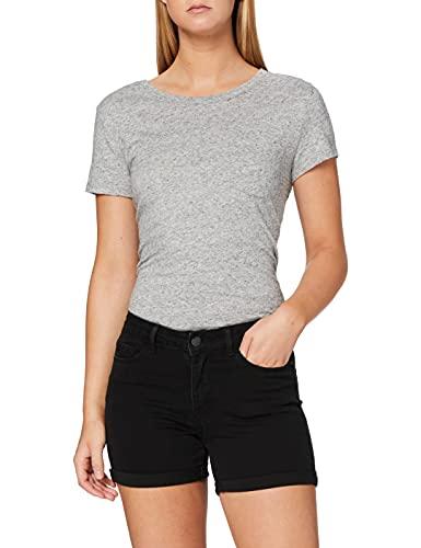 Vero Moda NOS Damen Vmhot Seven Nw DNM Fold Mix Noos Shorts , Schwarz (Black) , XS