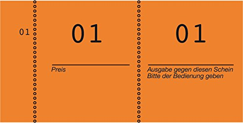 AVERY Zweckform 869-10-1 Nummernblock (105x53mm, 1.000 fortlaufend nummerierte Abrisse von 1-100 pro Block, 10 Blöcke mit je 100 Nummern, ideal für Veranstaltungen aller Art, Tombolas) orange