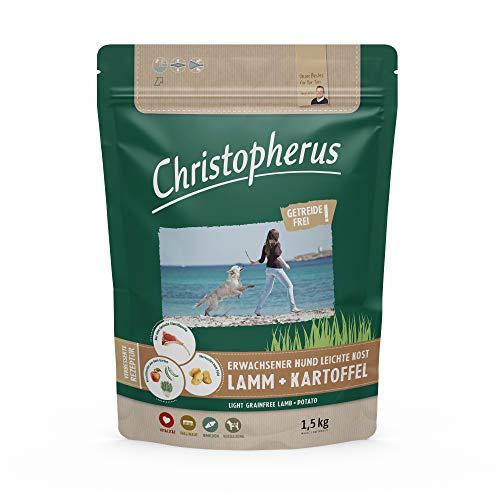 Christopherus Light Grainfree Aliment Complet pour Chiens Adultes en surpoids ou Faible activité Nourriture sèche Agneau et Pommes de Terre Taille des croquettes : Environ 1 cm Chien Adulte 1,5 kg