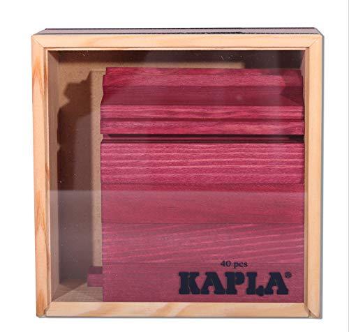 Kapla 9000160 Holzplättchen 40-teilig in Box, violett - 2