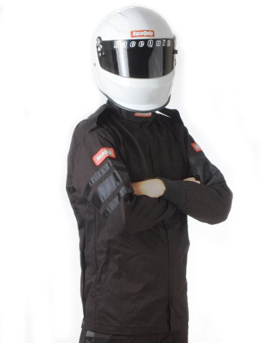 RaceQuip 111005 111 Series Large Black SFI 3.2A/1 Single Layer Driving Jacket