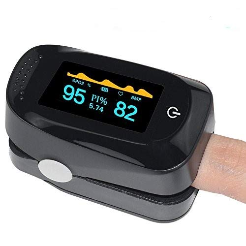Fingertip Monitor, Portable Digital SPO2 Pulse Sensor Meter with Alarm and Pulse Rate Monitor for...