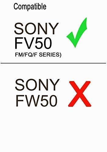 Lemix (FV50) Ultra Slim USB Charger for Sony NP-FV50 (FH/FP/FV SERIES) Batteries & for Listed SONY DSLR, DCR, DSC, FDR, HDR, HXR & NEX Series Models