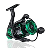 Aneagle 4000 Spinning Reel High Intensity Graphite 5.2:1 High Speed Light Weight waterproof Fishing Reel 13+1BB Stainless Max Drag 22.5Lbs New CNC Screwing-In Power Handle for Saltwater and Freshwater