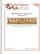 Scarlet Quince MOR018-D2lg Mantel Border (Tulip Center) by May Morris Counted Cross Stitch Chart, Large Size Symbols