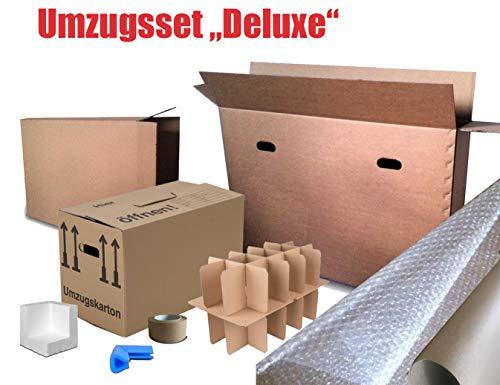 Umzugsset inkl. Umzugskartons, TV-Karton, Bilderkarton und Verpackungsmaterial
