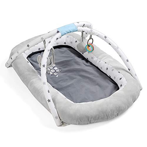 AZYJBF Nido de Bebé, Cuna para Bebé Recién Nacido, Transpirable, Suave y Portátil, para Dormitorio o Viaje Gris, Idea para Recién Nacidos para Cosleeping