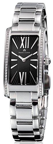 Maurice Lacroix Maurice Lacroix Fabia Schwarz Zifferblatt Edelstahl Stahl Diamant Damen Watch FA2164-SD532-311