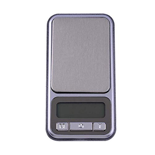 QAWSED Küchenwaage 100/200 / 500G 0,1 / 0,01G Mini-Digitalwaage Pocket Lcd Bildschirm Elektronische Waage Mit Edelstahl-Wägebrücke 100Gx0,01G