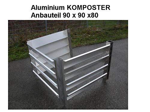 KOMPOSTER Anbauteil 90 x 90 x 80 (Innenmaß) aus witterungsbeständigem Aluminium, Metall